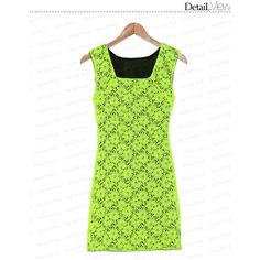 59 Seconds Sleeveless Square Neckline Lace Dress ❤ liked on Polyvore featuring dresses, sleeveless lace dress, green lace dress, lace dress, lacy dress and sleeveless dress