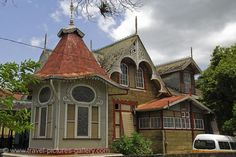 """Boissiere House, built in 1904 at 12 Queen's Park West, Port of Spain, Trinidad and Tobago, known to many simply as """"The Gingerbread House""""."""