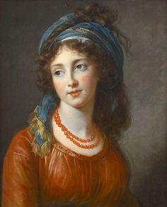 Louise Élisabeth Vigée Le Brun (French, 1755 - 1842): Portrait of Aglaé de Gramont, née de Polignac, duchess de Guiche (1794) (via Connaissance des arts)