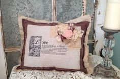 Love Is Patient Decorative Accent Pillow by LimePoppyDesigns