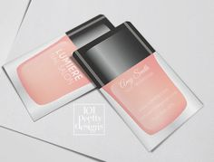 Modern business card nail salon printable by 101prettydesigns