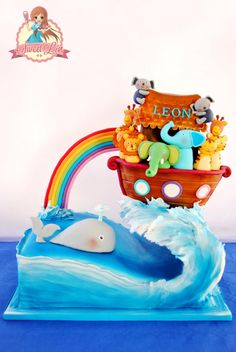 Gravity Defying Noah Ark - Cake by SweetLin