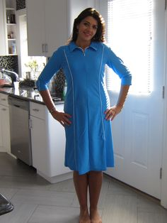 8d7ff5b01a1f4 AQUA MODESTA LADIES SWIM DRESS STYLE 2616 IN DEEP TURQUOISE. ALSO AVAILABLE  IN NAVY WWW.AQUAMODESTA.COM