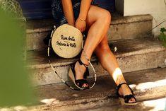 Tutoriel // DIY du sac rond en paille (sans couture et super facile ) – Wherebeesare