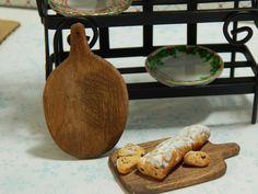 Miniature Handmade Wood Cutting Board Walnut by JansPetitPantry