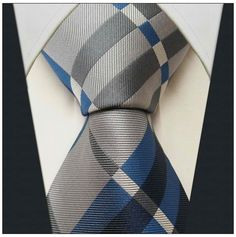 Gray / Blue Stripe Pattern - Neckties Only Collection