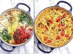 Blow your MIND Tomato Basil Pasta! - No Straining, just Stirring. Molly said it was easy and delish!