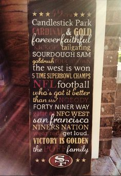 San Francisco 49ers Hand painted wooden artwork