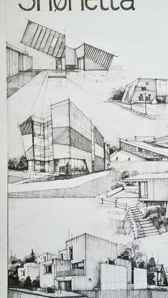Architecture Collage, Architecture Drawings, Architecture Portfolio, Amazing Architecture, Architecture Design, Planer Layout, Schematic Design, Architect Drawing, Building Sketch