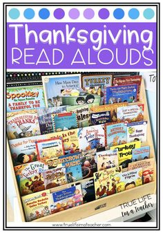 List of 26 Thanksgiving read alouds perfect for 1st - 3rd graders Thanksgiving Books, Thanksgiving Activities, Autumn Activities, Reading Resources, Classroom Resources, Classroom Ideas, Kindergarten Activities, Book Activities, Teacher Blogs
