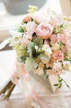 Beautiful pink and green bouquet. Spring Wedding Bouquets, Blush Wedding Flowers, Fall Wedding Bouquets, Wedding Flower Arrangements, Bridal Flowers, Bride Bouquets, Floral Wedding, Pink Green Wedding, Pink Wedding Theme