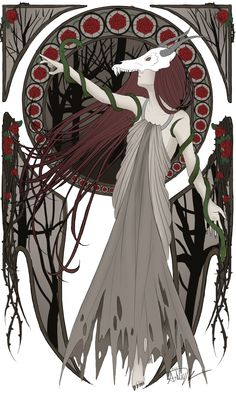 "In Finnish folklore, Ajatar (also spelled Aiatar, Ajattaro or Ajattara) is a spirit known as ""Devil of the Woods"". It is an evil female spirit that manifests as a snake or dragon. Ajatar is said to be the mother of the devil. She spreads disease and pestilence, any that look at her become ill, and she suckles serpents. Ajatar by alchemistShleyy.deviantart.com on @DeviantArt"