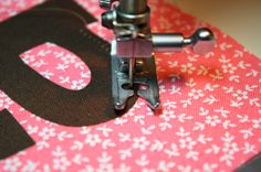 tips for sewing curves on appliques...very smart!