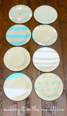 DIY Painted Plates @
