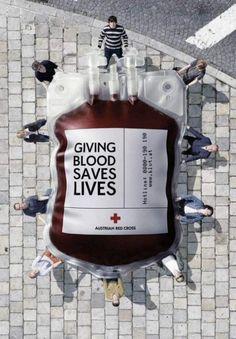 """Esta """"colchoneta"""" salva muchas vidas. Dona sangre. (Campaña de Cruz Roja Austria)"""