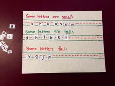 small tall fall - letter sorting activity