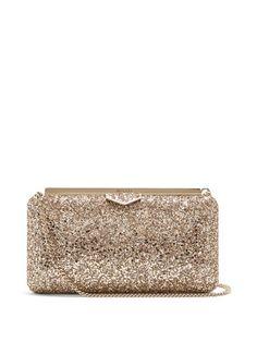 Ellipse glitter clutch-bag
