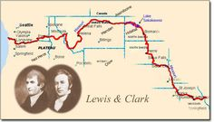 Divine image regarding lewis and clark printable map