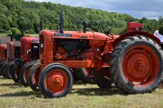 A line up of vintage Nuffield tractors at the Wiltshire Steam & Vintage Rally. Rally, Tractors, Vintage, Vintage Comics