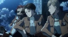 LEVI ACKERMAN IS FOR REAL SMILING THIS IS NOT EDITED. I REPEAT, NOT EDITED. I FOUND THIS DIRECTLY FROM A TRAILER FOR THE OVA