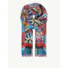 Etro Paisley print linen scarf (715 BRL) ❤ liked on Polyvore featuring men's fashion, men's accessories, men's scarves, mens paisley scarves and mens linen scarves