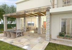 Door Design, House Design, Balcony Planters, Stone Houses, Pergola Designs, House Front, Backyard Patio, Kitchen Gadgets, Bellisima