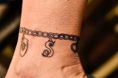 Ankle Charm Bracelet Tattoo
