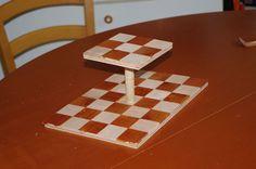 Duel Chess Game invented by Erez Schatz http://www.chessvariants.org/43.dir/duel-chess.html Board built by Uri Bruck photo: Uri Bruck