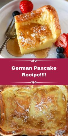 German Breakfast, What's For Breakfast, Breakfast Dishes, Breakfast Recipes, German Pancakes Recipe, Yummy Pancake Recipe, Yummy Food, Hashbrown Casserole Recipe, Oktoberfest Food