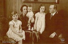 Crown Prince Olav of Norway with his family
