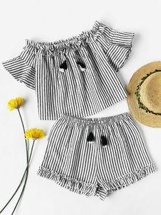 Long Leggings vêtements d/'été Set Flora Toddler Baby Girl Kids Off épaule Tops