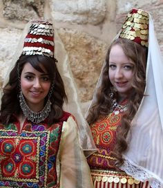 Palestinian girls in traditional costume celebrating Christmas in Occupied Palestine-12/24/2013
