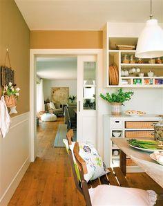Puertas correderas en una cocina / para cocina pequeña