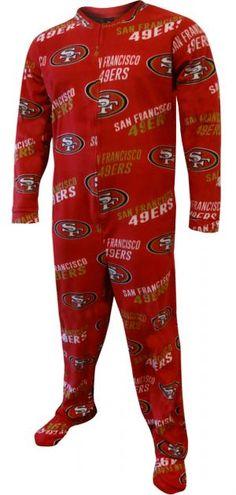 1ed2376f8c San Francisco 49ers Logo Guys One Piece Footie Pajama