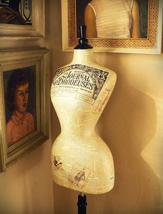 wasp waisted vintage print mannequin by Corset Laced Mannequins, via Flickr