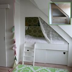 Bedstee nr 2 - dit idee is nog beter, maar dan met planken/open ruimte er boven.
