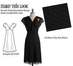 (via Make This Look: Social Club Socialite Dress - The Sew Weekly Sewing Blog  Vintage Fashion Community)