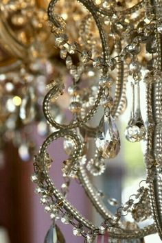 beading for refurbishing an old chandelier