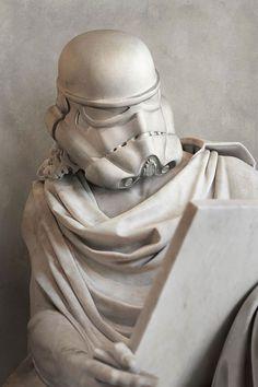 Um artista transformou os personagens de Star Wars em esculturas gregas