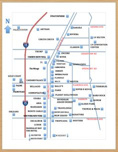 Map Of Las Vegas Hotels List S And Strip