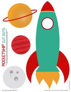 rocket ship cut out - print on cardstock and put your child's photo in the window