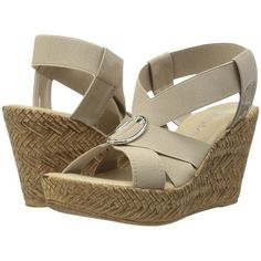 PATRIZIA Indah (Beige) Women's Wedge Shoes ($56) ❤ liked on Polyvore  featuring