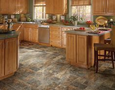 Charmant Maybe Kitchen Vinyl, Kitchen Tiles, Vinyl Flooring Kitchen, Oak Kitchen  Cabinets, Bathroom