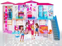 Shop for Barbie dolls and toys and find fab fashions, playsets and fashion dolls. Browse Barbie dolls and toys sparkling with pinktastic fun in the Barbie toys collection including dollhouses, Barbie& Dreamhouse, fashions and doll accessories. Barbie Doll Set, Barbie Sets, Barbie Doll House, Barbie Dream House, Mattel Barbie, Dreamhouse Barbie, Mattel Shop, Toys For Girls, Kids Toys