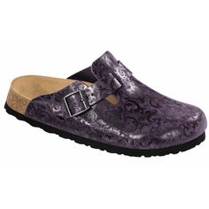 Boston in Lilac Twirl Leather Birkenstock Boston Clog, Clogs, Lilac, Leather, Fashion, Moda, Lilac Bushes, Fasion, Trendy Fashion