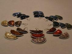 Boucles d'oreilles trio ombrelle en Capsules Nespresso Prix : 7 euros pièce
