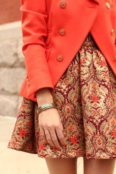 Printed red skirt. Latest arrivals, new collection.