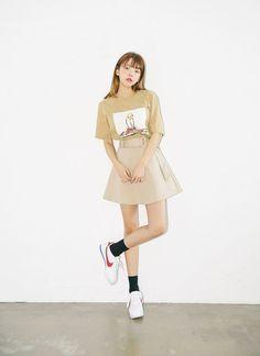 Korean Fashion Style #beige #Akiwarinda