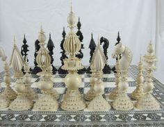 Samuel Pepys Ivory & Horn Set on Indian Sadeli-work Board - Jon Crumiller - Веб-альбомы Picasa