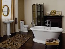 "Achieve a ""classic look"" with various DXV collections from their Classic Movement. #Design #Bathdesign"